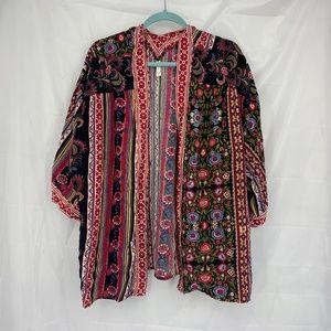 Xhilaration Size XL/XXL Floral Print Short Kimono
